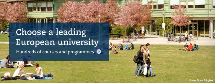 Choose a leading European university