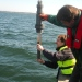Sediment sampling in The Baltic Sea.