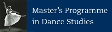 Master's Programme in Dance Studies