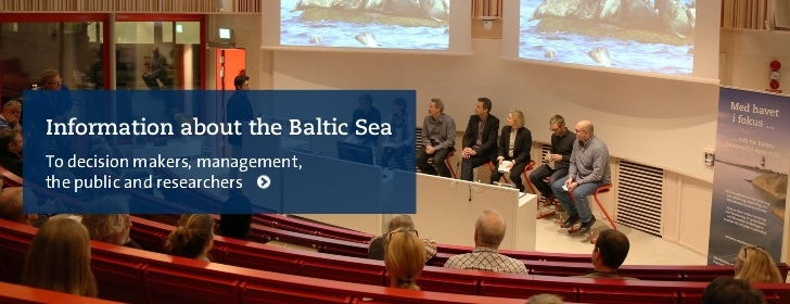 Information about the Baltic Sea to the right place in society