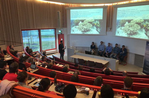 Coral experts G Williams, D Thompson, N Graham, M Tedengren, M Nyström in the panel