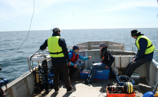 Measurements at R/V Limanda will be compared to the ones made at R/V Oceania