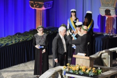 Bildtext: Mario Vargas Llosa receives his honorary doctorate