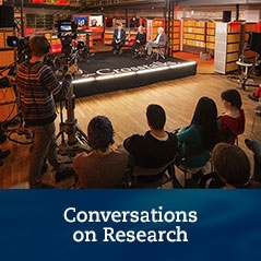 Banner for our conversations on research