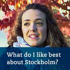 What do I like best about Stockholm? Meet master's student Reyes Martin Gonzalez from Spain