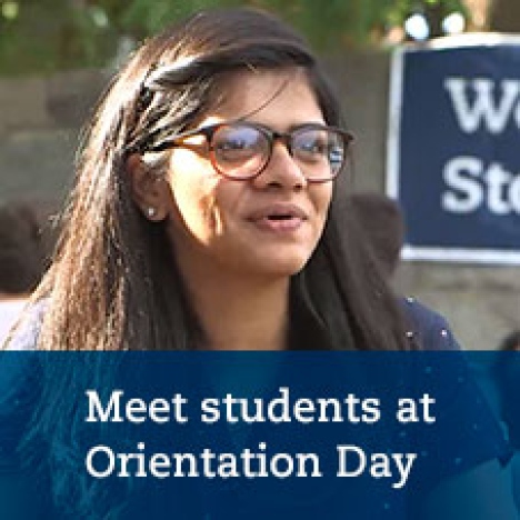 Meet students during Orientation Day