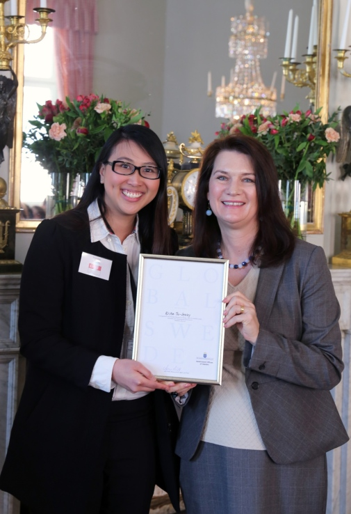 Kirsten Teo-Delalay and Ann Linde, Swedish Minister for EU Affairs and Trade by Catarina Axelsson