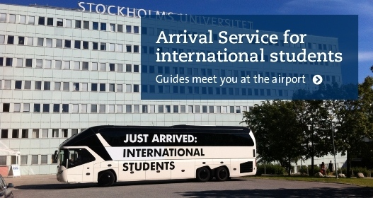 Welcome bus for international students outside Södra huset Photo: Ronald T. Nordqvist