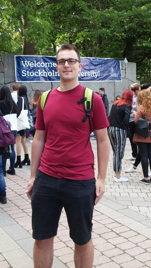Philipp Mack was one of many international students taking part in Orientation Day.