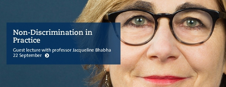 Guest lecture with professor Jacqueline Bhabha