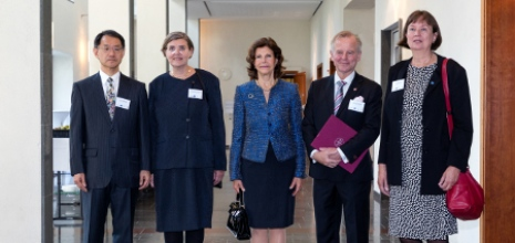 Queen Silva and representatives for the four universities. Photo: Yanan Li