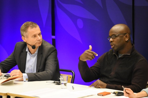 Johan Kuylenstierna and Lilian Thuram. Photo: Anna-Karin Landin, Stockholm University.