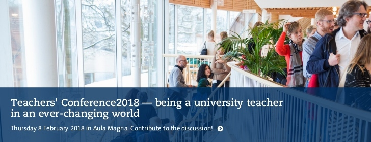 Teachers' Conference2018 - being a university teacher in an ever-changing world