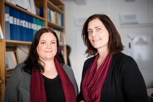 Vendela Blomström och Jeanna Wennerberg. Foto: Vilhelm Stokstad