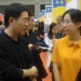 Beijing 2011: Stockholm University alumnus Jasmine Guo Jia Yuan talking to prospective students during the 2011 China Education Expo in October.