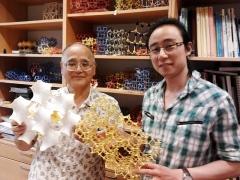 Professor Terasaki and Changhong Xiao