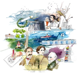 Stockholms universitet – en animerad historia. Illustration: Sara-Mara