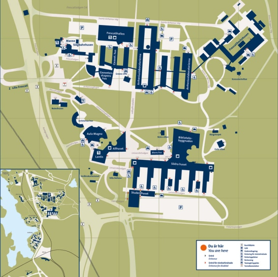 su karta Frescati   Stockholms universitet su karta