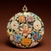 Enameled Watch with Flowers - Walters