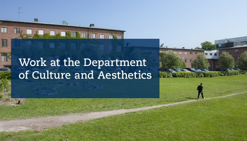 Work at the Department of Culture and Aesthetics