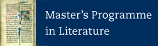 Master's Programme in literature