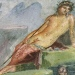 Fresco of Narcissus at the Fountain at the House of Marcus Lucretius Fronto, Pompeii