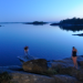 Sauna and swim in the calm Askö Bay