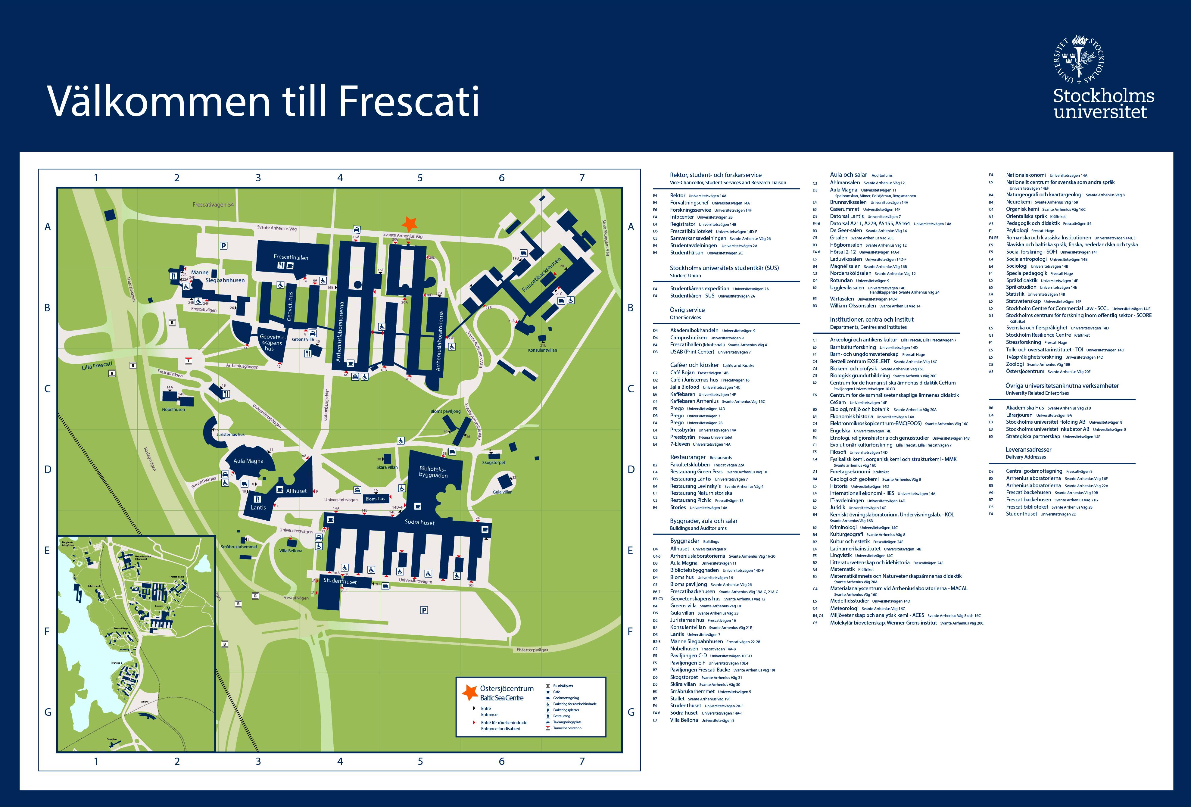su karta Besök Stockholms universitets Östersjöcentrum   Stockholms  su karta