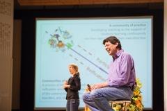 Torgny Roxå var huvudtalare vid konferensen. Foto: Niklas Björling