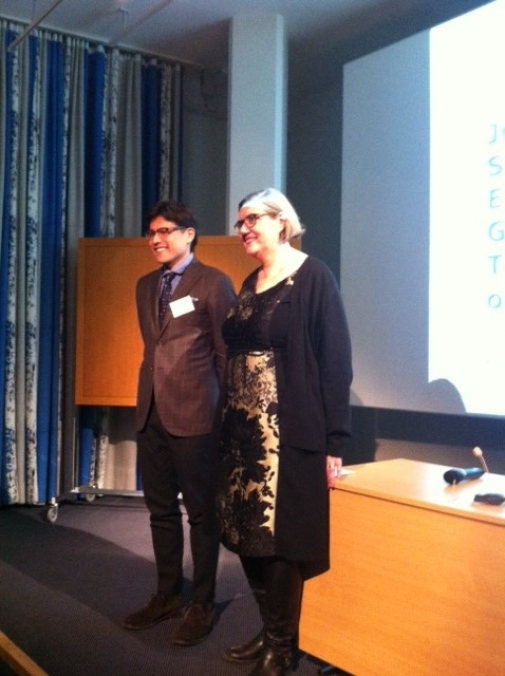 Stockholm University Vice-Chancellor Astrid Söderbergh Widding and Associate Professor Yuto Kitamura from University of Tokyo