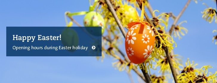 Opening hours during Easter holidays