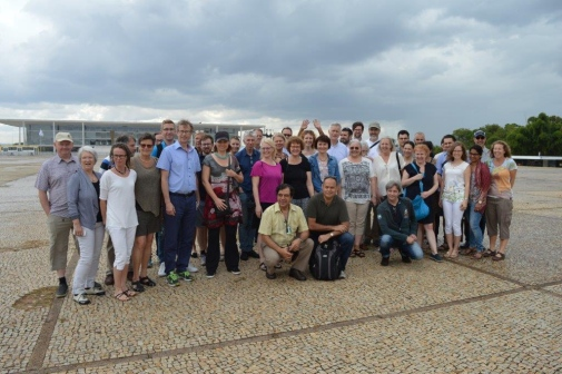 The Swedish university delegation took an excursion to see the sights of Brasilia.