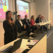 Catrin Åkerblom from the Swedish Council for Higher Education (UHR) talks about cooperation between Swedish and Colombian universities at the second seminar. In the background (left-right) Jonas Borglin, Stefan Åström, Emma Nilenfors, Magnus Linton and Bo Forsberg