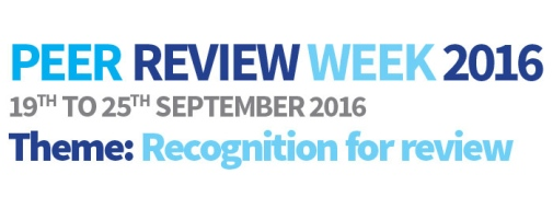 Peer Review Week 2016.