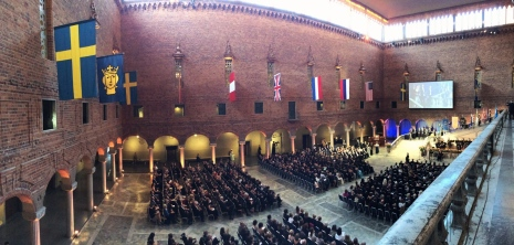 The ceremony in Stockholm City Hall. Foto: Anna-Karin Landin