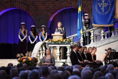 The ceremony in Stockholm City Hall.