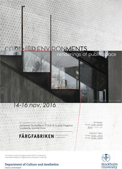 Affischen för Codified Environments: Renderings of Public Space.