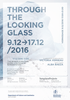 "The poster of the exhibition ""Through the Looking Glass""."