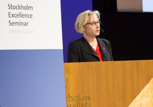 The Swedish Minister for Higher Education and Research Helene Hellmark Knutsson