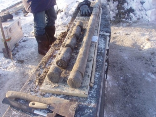 A sediment core sample with permafrost from the seafloor. Photo: Igor Semiletov