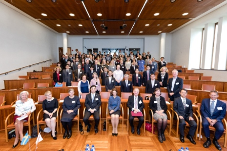 The workshop participants gathered in Nobel Forum. Photo: Yanan Li