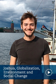 Joshua, alumni, Globalization, Environment and Social Change, Stockholm university