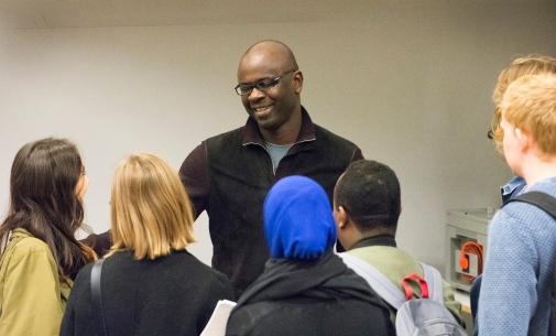 After the conversation, students and other in the audience hade the chance to meet and talk to Lilian Thuram and Johan Kuylenstierna.