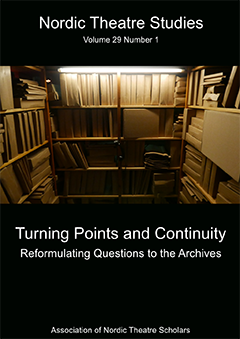 The cover of the issue Turning Points and Continuity: Reformulating Questions to the Archives.