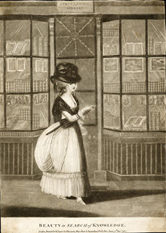A beauty in search of knowledge. Av: R. Sayer and J. Bennett, New York Public Library, Digital Coll.