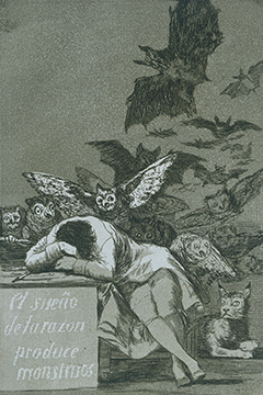 """The Sleep of Reason Produces Monsters"" av Francisco de Goya"