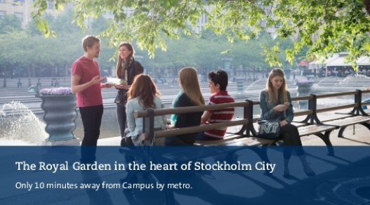 Students in the Royal Garden in the heart of Stockholm City. Photo: Eva Dalin