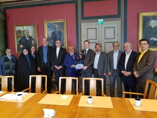 Delegation led by Dr Zahedi, Chair of the Iranian Parliamentary Committee of Education