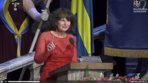 Jenny White holds the Professors' Lecture at Stockholm City Hall