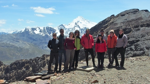 Part of the research team at Chacaltaya near the city of La Paz, Bolivia. Photo: Claudia Mohr